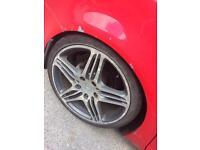 "19"" Porsche wheels and hub adapters NO TYRES 5x112 5x130 Audi vw skoda seat merc"