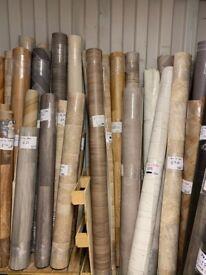 Vinyl flooring remnants