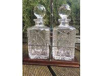 Crystal Cut Glass Decanters