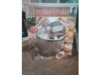Gino D'Acampo 3 litre Ice Cream Maker -NEW