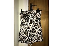 Topshop Animal Print Playsuit