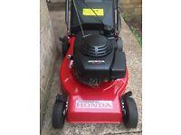 Self propelled Honda petrol mower