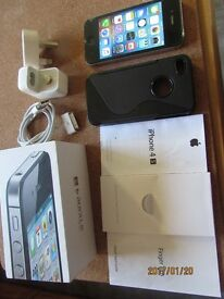 Apple Iphone 4S unlocked 16GB black Boxed Mint condition like new