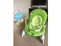 Chicco balloon bouncer chair. Iulate condition. insert.