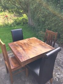 Oak wooden table large and small