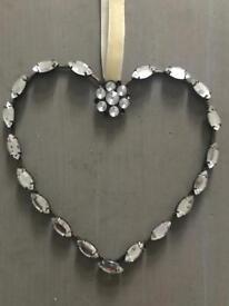 Diamanté style heart