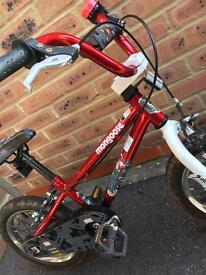 Boys BMX Mongoose Bike 14 in with stabilisers