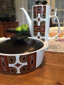 J&G Meakin Studio ware coffee pot and dish