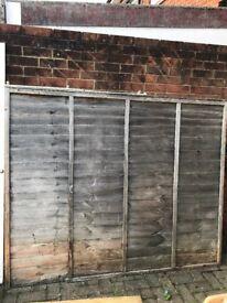 Fence panels x 5