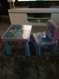 kids table and chair set.
