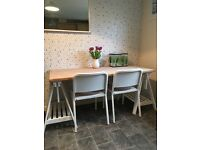 IKEA solid wood dining table with chairs