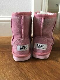 Girls Pink Uggs size 7