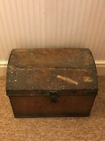 Metal Trunk Vintage Shabby Chic