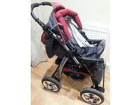Junior pram pushchair stroller buggy from baby-merc 3 in 1 + car seat included
