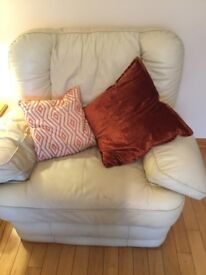 2 Italian leather arm chairs for sale sofa free as its damaged open to offers needs gone asap