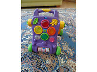 Baby walker musical and multi-coloured