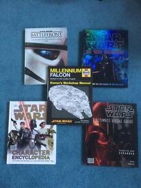 STAR WARS book collection of 5!