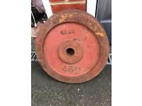 """2 x 45kg Olympic Weight Plates 2"""" hole"""
