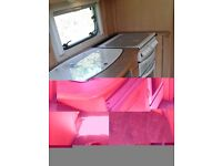 FOR SALE ABBEY VOGUE GTS 215 2002 2 BERTH CARAVAN WITH PORCH AWNING