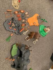 Playmobil pre-historic set including figures