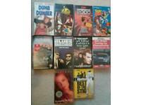 Various vhs cassettes