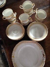Fine bone china cups,saucers and plates