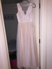 Beautiful beige maxi dress (brand new)