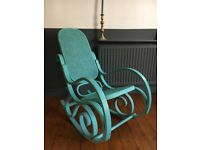 Turquoise Vintage Rocking Chair