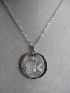 GORGEOUS OLD VINTAGE STERLING SILVER [stamped] PENDANT NECKLACE