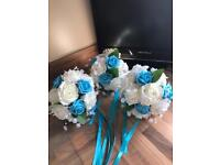 SET OF 3 BRIDESMAIDS BOUQUETS GREAT CONDITION