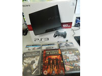 Playstation PS3 160GB console model + 6 games