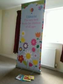 Usborne banner stand