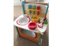 Wooden ELC kitchen baby walker