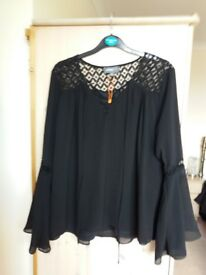 Ladies black shirt by Apricot