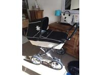 **Need gone ASAP** Silver Cross Sleepover Elegance Pram/Pushchair with Changing Bag and Rain cover