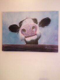 Cow picture canvas