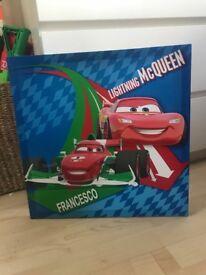 Cars lighting McQueen canvas