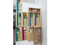 Melissa and Doug Wooden education Puzzles - Close to free