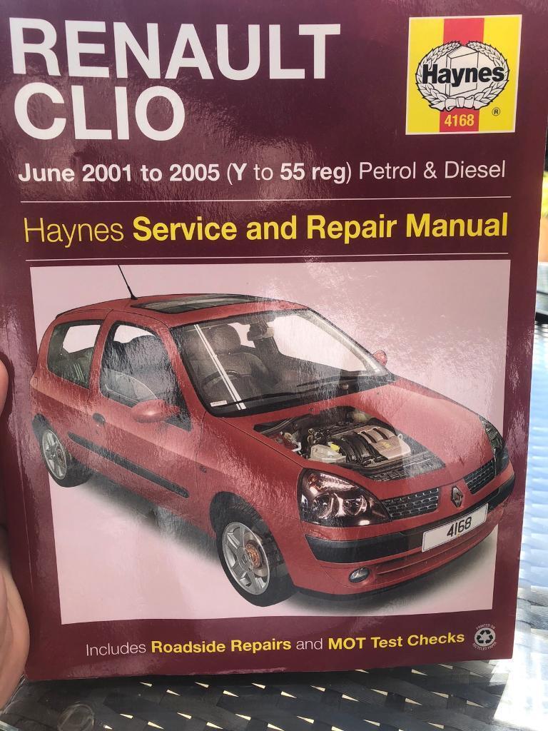 Haynes renault clio service and repair manual.