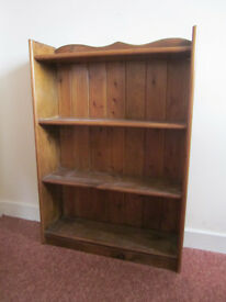 Bookcase, solid wood, 3 shelves