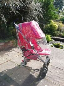 Red Stroller in perfect conditions with all accessories for sale