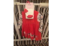 Brand new m&s red pinafore