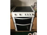 White electric oven & hob