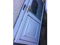 Pvc door good condition with leaded glass free local delivery if required