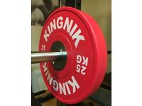 Olympic Bumper Weight Plates By KINGNIK 25KG x 2 - Brand New Boxed