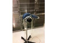 Dog dryer on stand