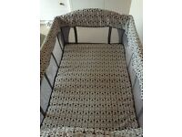 John Lewis Travel cot with bassinette