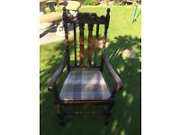Oak armchair