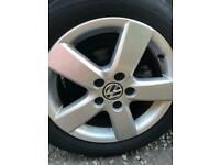4 x VW Golf mk6 16inch alloys with tyres