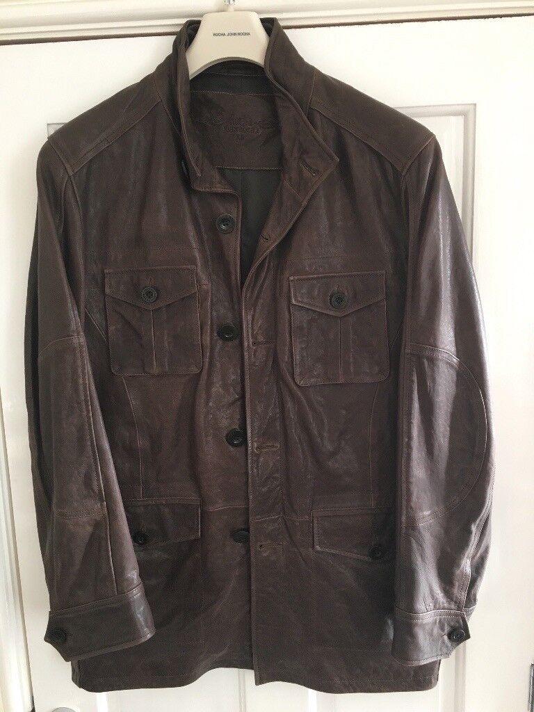 Designer men's leather jacket John rocha